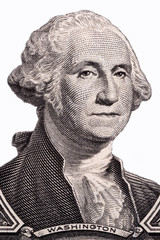 George Washington, portrait on a white background