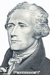 Alexander Hamilton, portrait on a white background