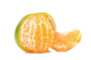 tangerine. sweet orange. on white background