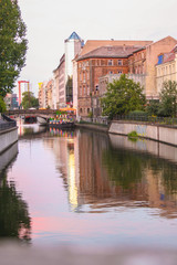 view of spree riverside at sunset