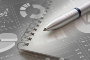 Business consept, Financial graphs