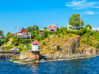 Small island in the Oslo Fjord, Norway