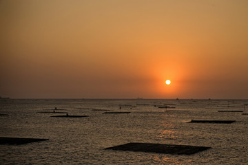 Sunset view from Sunset Platform in Tainan, Taiwan