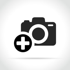 plus sign on camera icon
