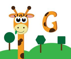 cute funny giraffe cartoon design