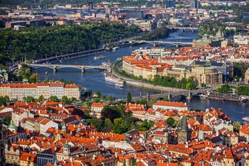 Prague cityscape, Czech Republic. Panoramic view