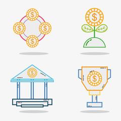 set business economy liner icon