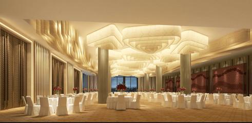 3d render of hotel meeting room