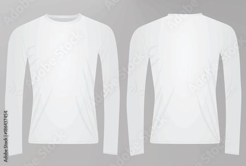 1d25b5b706f4 Long sleeved t shirt. vector illustration