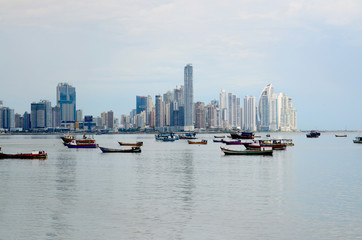 Spoed Foto op Canvas New York TAXI View of Panama City