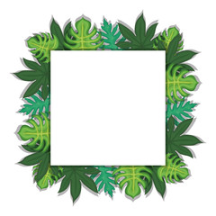Leaves frame background