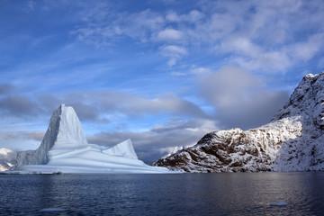Iceberg in Scoresbysund in Greenland