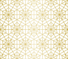 Luxury Geometric Pattern. Seamless Vector Lines. Golden Look.