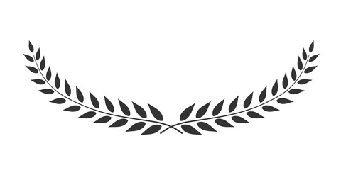 Laurel wreath oval-shaped vector isolated on white background