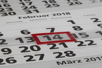 Kalender mit Tage und Monate