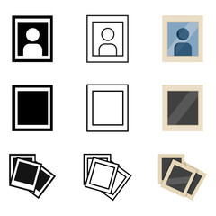 Vector Set of Photos Icons.
