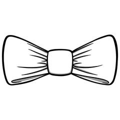 Bow Tie Illustration - A vector cartoon illustration of a Bow Tie.