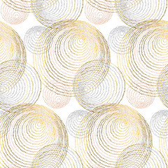modèle sans couture de style luxe géométrie abstraite or rose. illustration vectorielle chic et élégante pour la conception de surface, le tissu, le papier d& 39 emballage.
