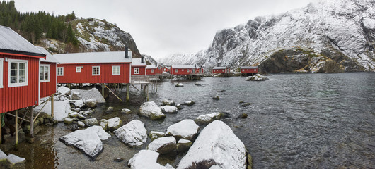 Nusfjord Lofoten Norway, winter time