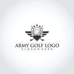 Army Golf Club Logo Design. Vector Illustrator Eps. 10