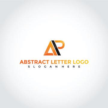 Abstract Letter AP Logo Design. Vector Illustrator Eps. 10