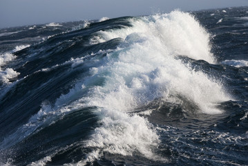 Foto op Canvas Poolcirkel Rough Sea - Arctic Ocean