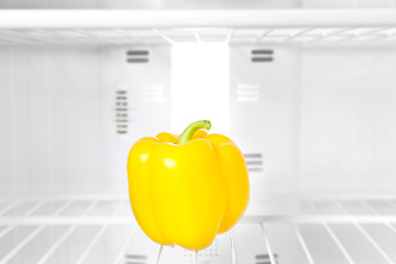 Fresh pepper in refrigerator