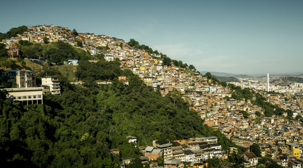 Favela Morro dos Prazeres in Rio de Janeiro, Brazil
