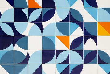 Retro pattern ceramic tiles in Rio de Janeiro, Brazil