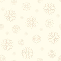 Traditional floral seamless pattern