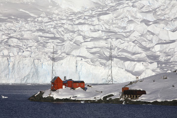 Argentine research base - Paradise Bay - Antarctica