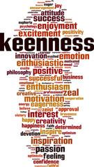 Keenness word cloud