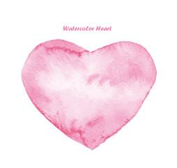 Watercolor heart love