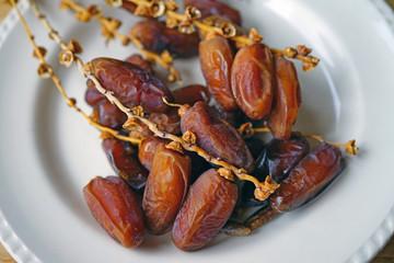 Platter of fresh dates