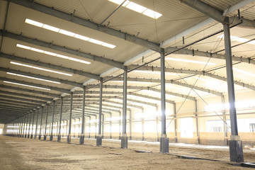 Factory workshop, steel structure
