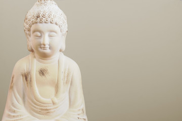Buddha Statue close up with copy space.