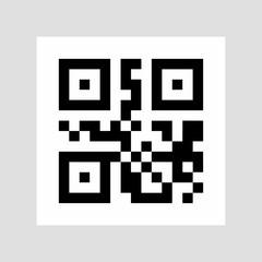 Sample qr code icon. vector