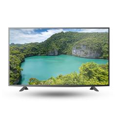 4K modern TV monitor screen isolated on white