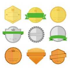 Blank Vintage Custom Shape Badge Emblem Vector Illustration Graphic