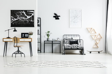 Black and white map posters