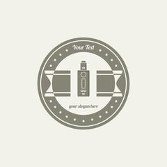 electric cigarette badge label template