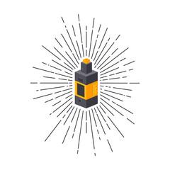 isometric block sunray burst electric cigarette personal vaporizer