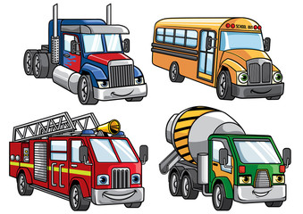 cartoon truck set