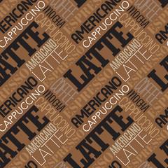 Coffee seamless pattern. Vector illustration.