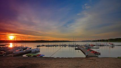 Fototapete - Mazury-Krzyże,wschód słońca
