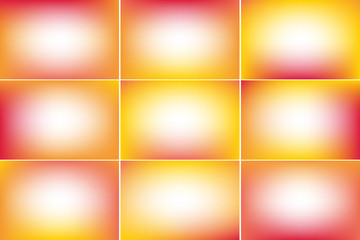Summer banners. Hot colors. Gradient vector backgrounds collection