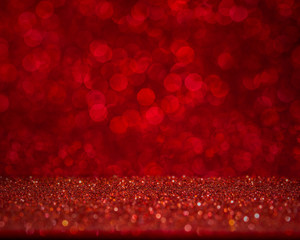 Abstract Red bokeh background. Beautiful holiday background for Christmas, valentine, 2018 new year, celebration day.