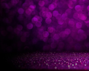 Abstract purple bokeh with dark