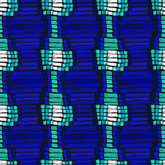 African ethnic pattern traditional texture blue indigo