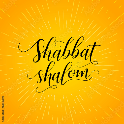 Shabbat shalom lettering greeting card vector illustration bright shabbat shalom lettering greeting card vector illustration bright orange background with rays of altavistaventures Images